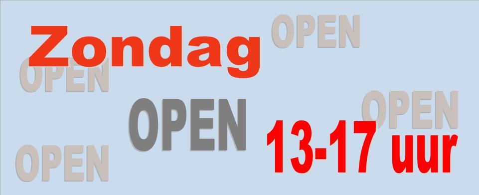 Zondag open